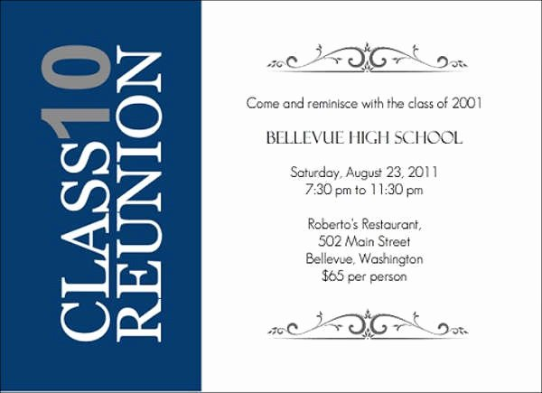 Class Reunion Flyer Templates Templates Resume