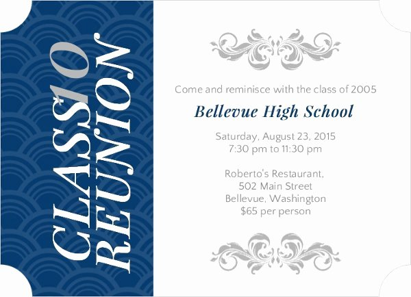 Class Reunion Invitation Wording
