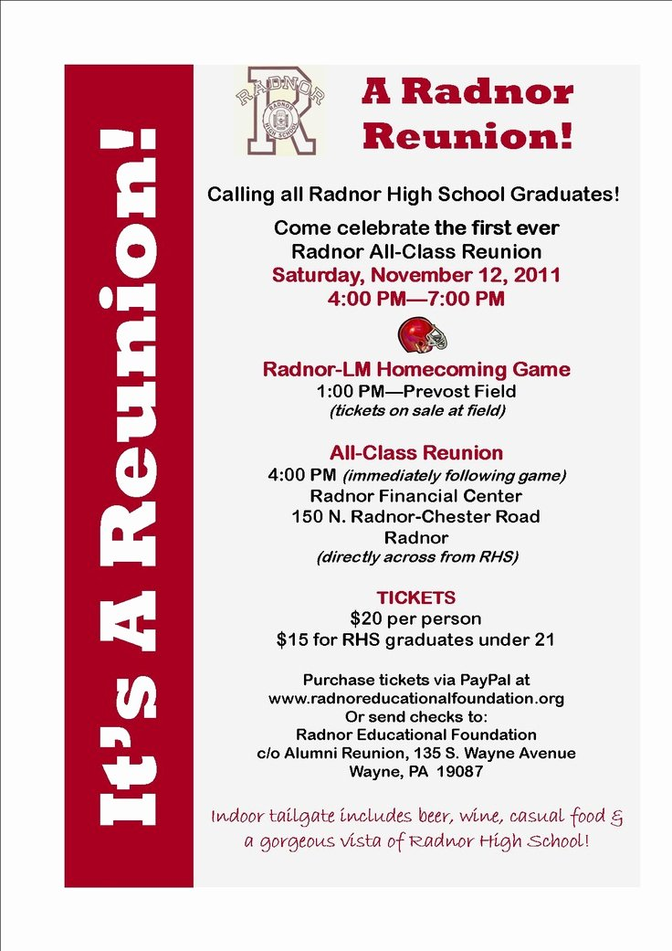 Class Reunion Invitations Invitations