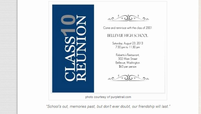 Class Reunion Invitations Templates Free Templates