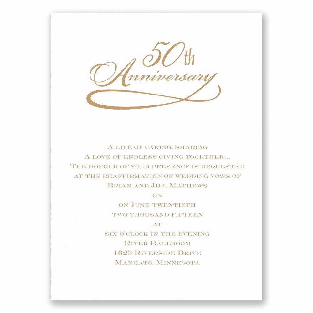 Classic 50th Anniversary Invitation