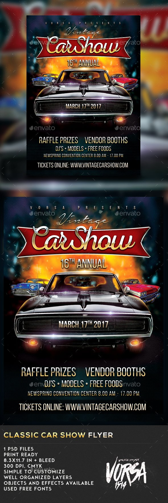 Classic Car Show Flyer by Vorsa