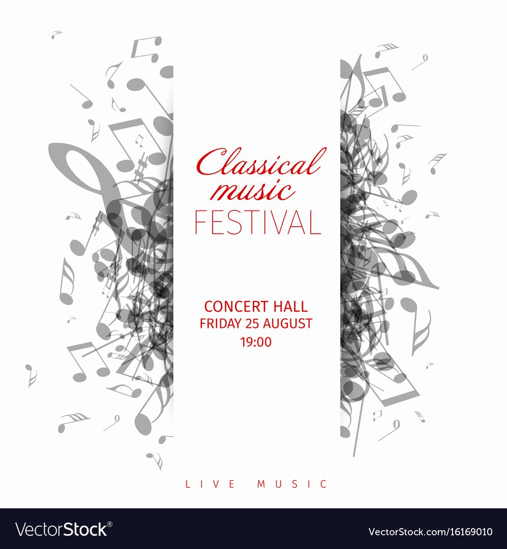 Classical Music Concert Poster Template Royalty Free Vector