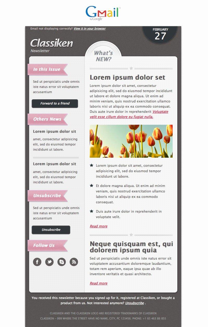 Classiken HTML Newsletter Template