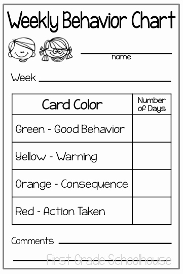 Classroom Management and Behavior Charts