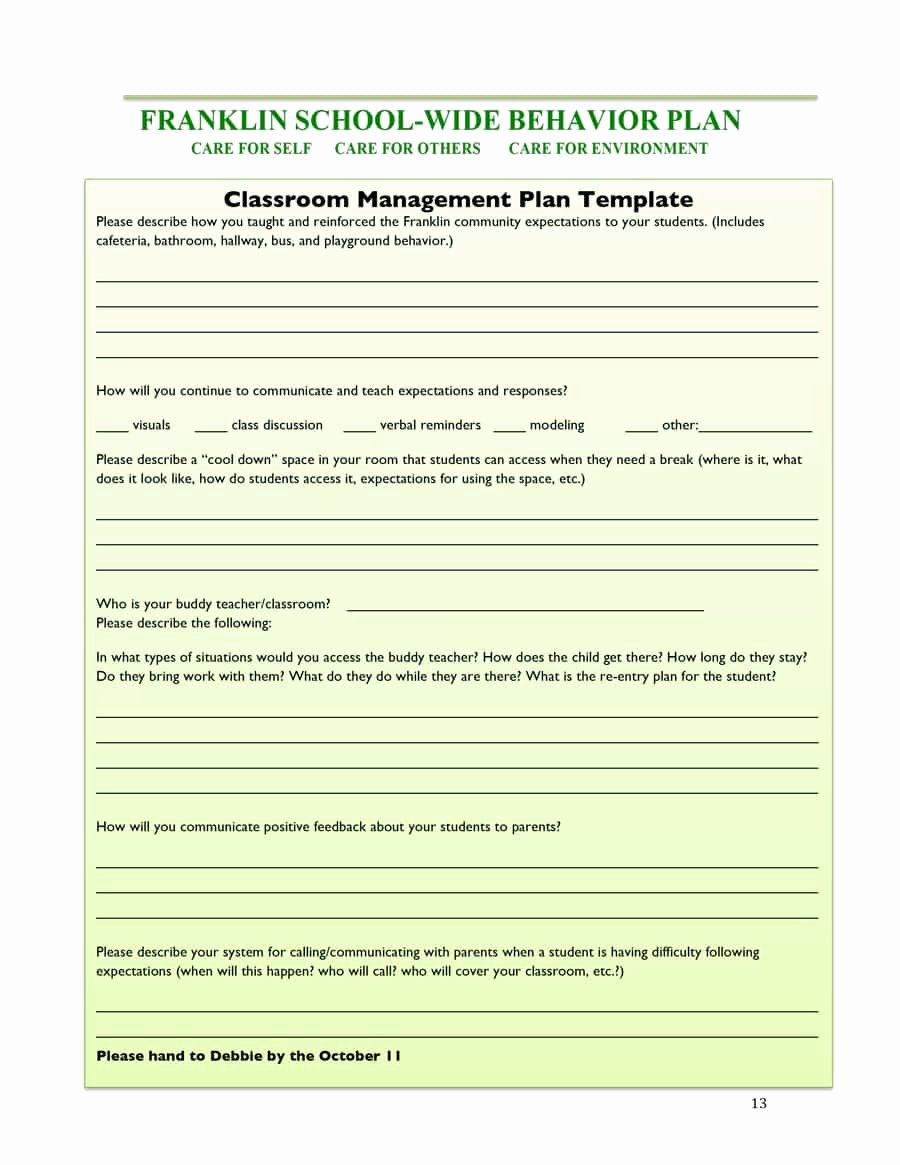 Classroom Management Plan 38 Templates & Examples