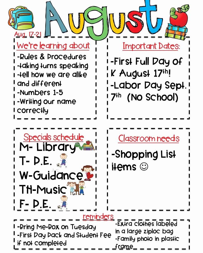 Classroom Newsletter Freebie Kickin It In Kindergarten