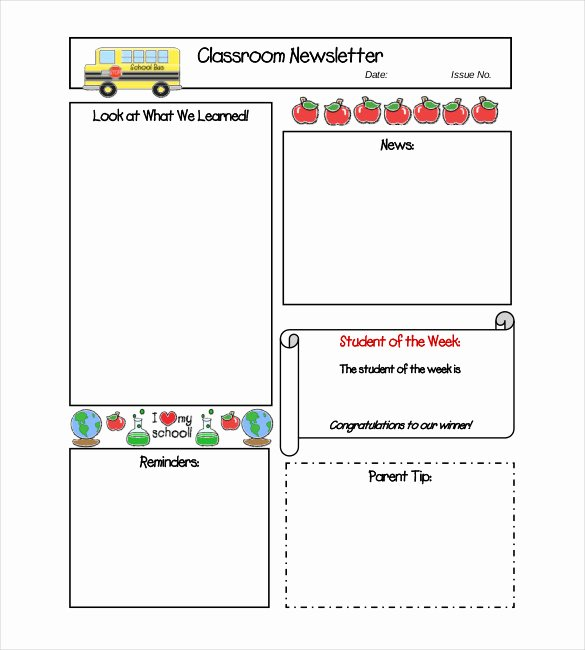 Classroom Newsletter Template – 9 Free Word Pdf