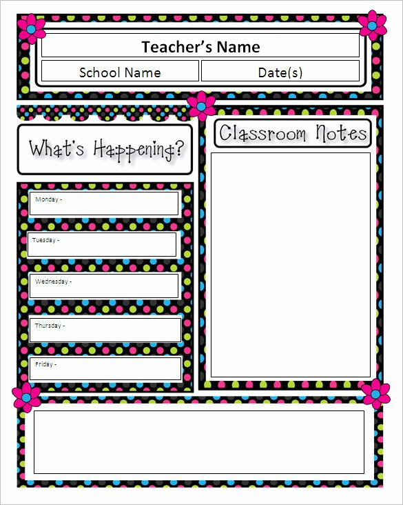 Classroom Newsletter Template Microsoft Word Templates