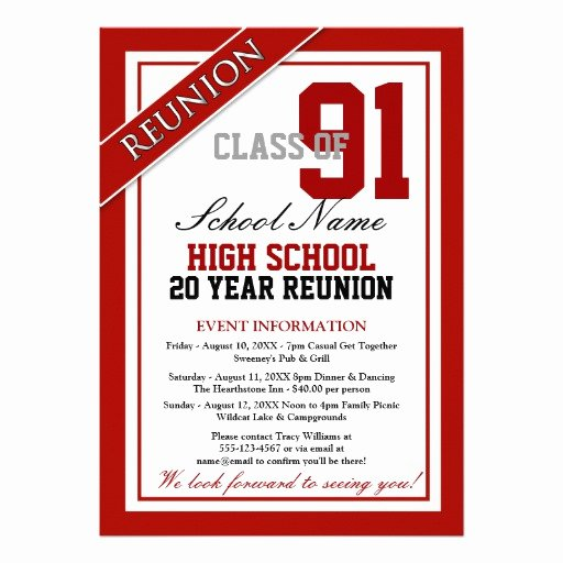 Classy formal High School Reunion 5x7 Paper Invitation