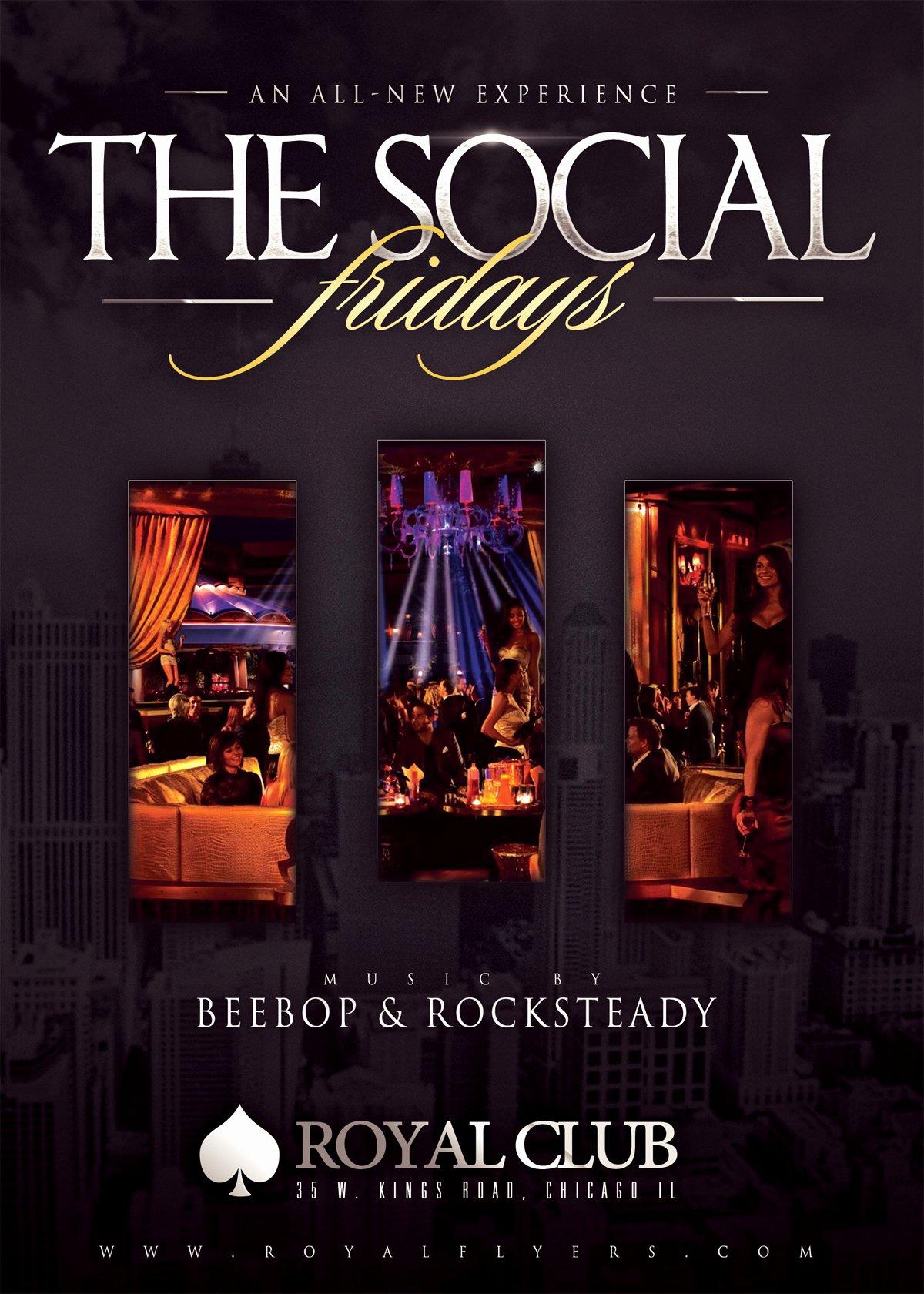 Classy social Club Flyer Psd Template