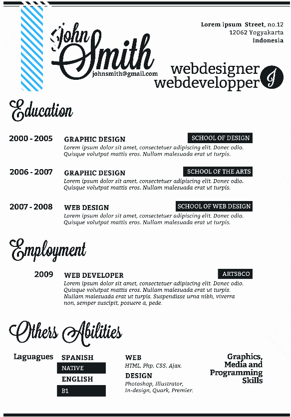 Clean & Simple Single Page Resume Template
