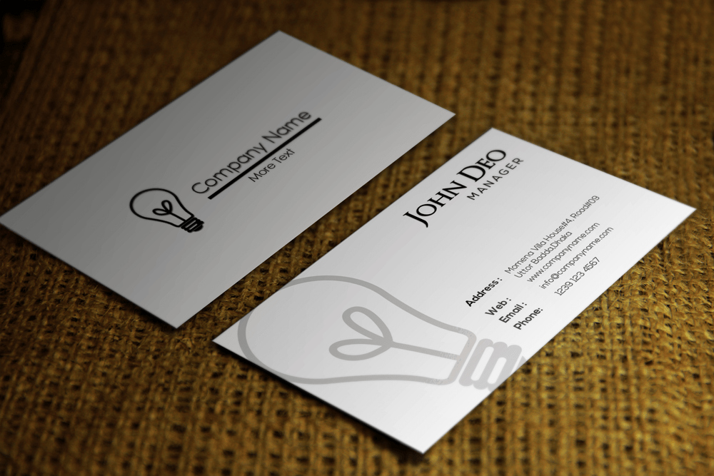 Clean & Stylish Corporate Free Business Card Psd Template