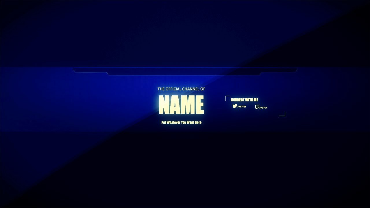 Clean Channel Art Template Tutorial Download Link
