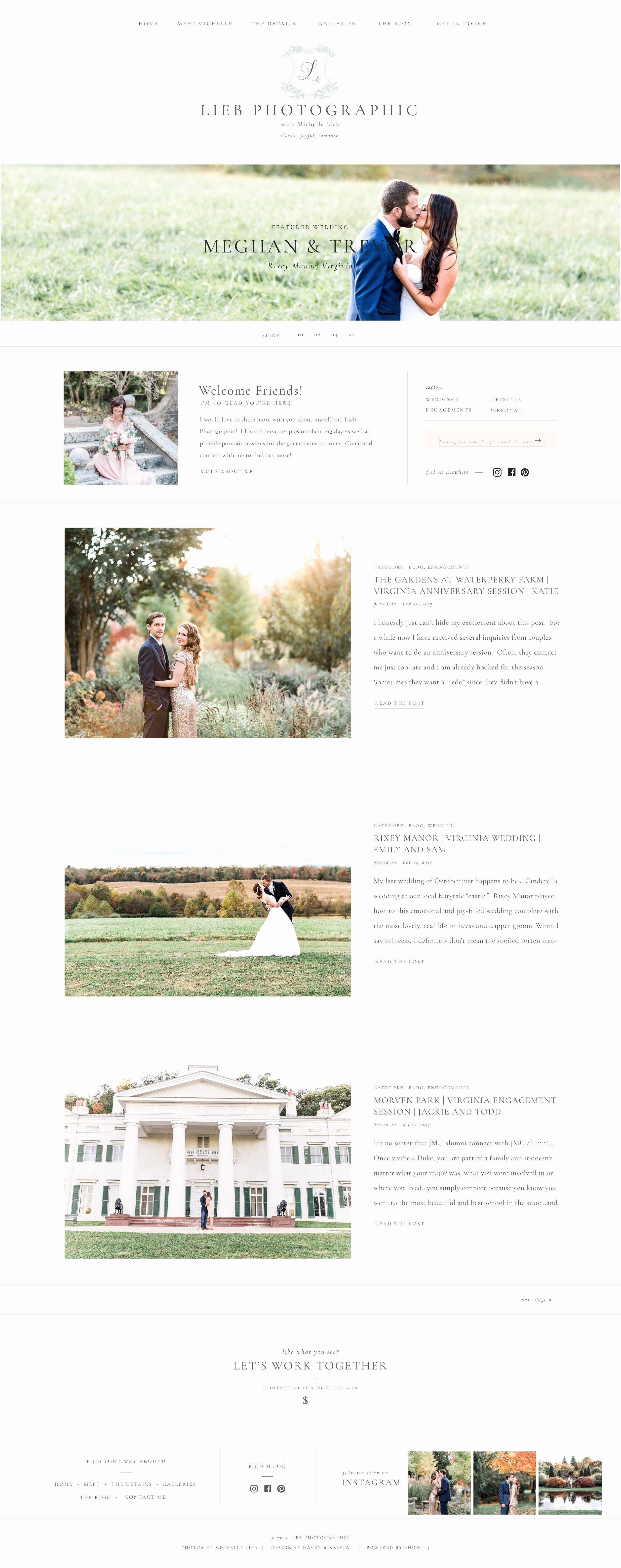 Clean Elegant Modern Website Templates for Photographers