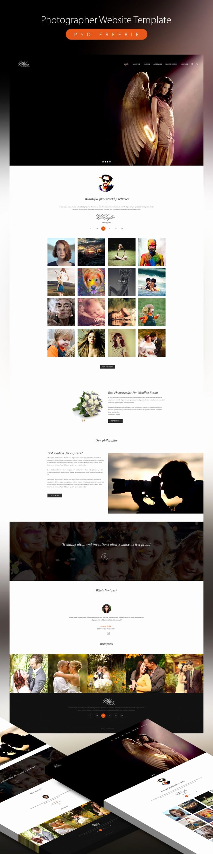 Clean Grapher Website Template Psd Freebie Download