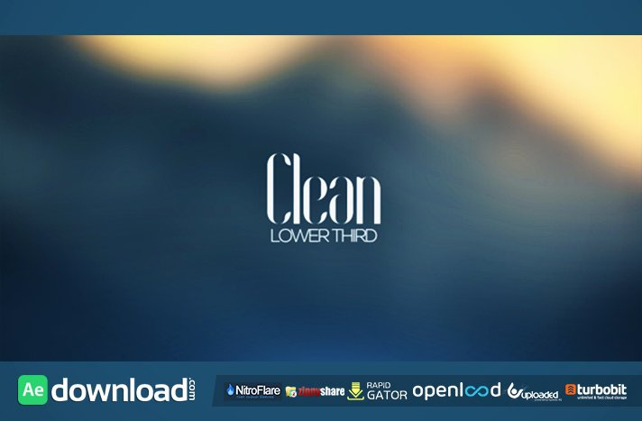 Clean Lower Third Videohive Project Free Download Free