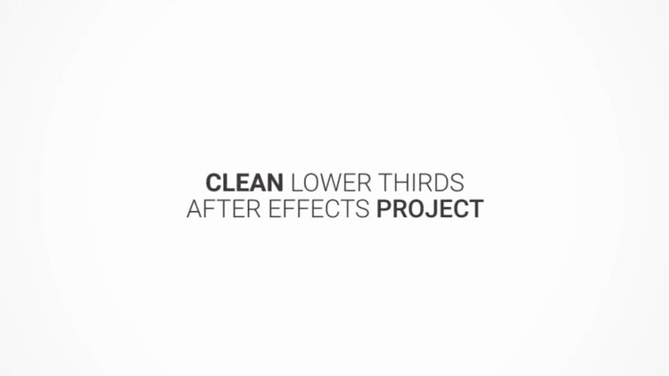 Clean Lower Thirds after Effects Templates