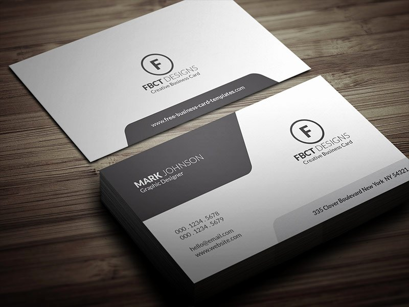 Clean Monochrome Business Card Template Free Download