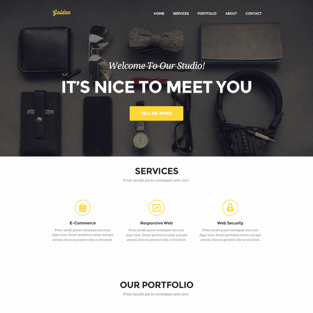 Clean Personal Portfolio Website Template Psd Download