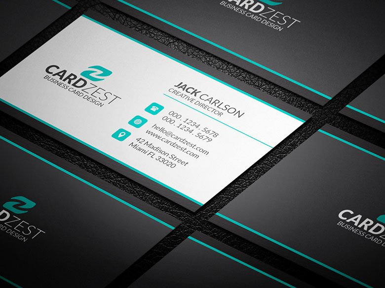 Clean Professional Corporate Business Card Template Cardzest