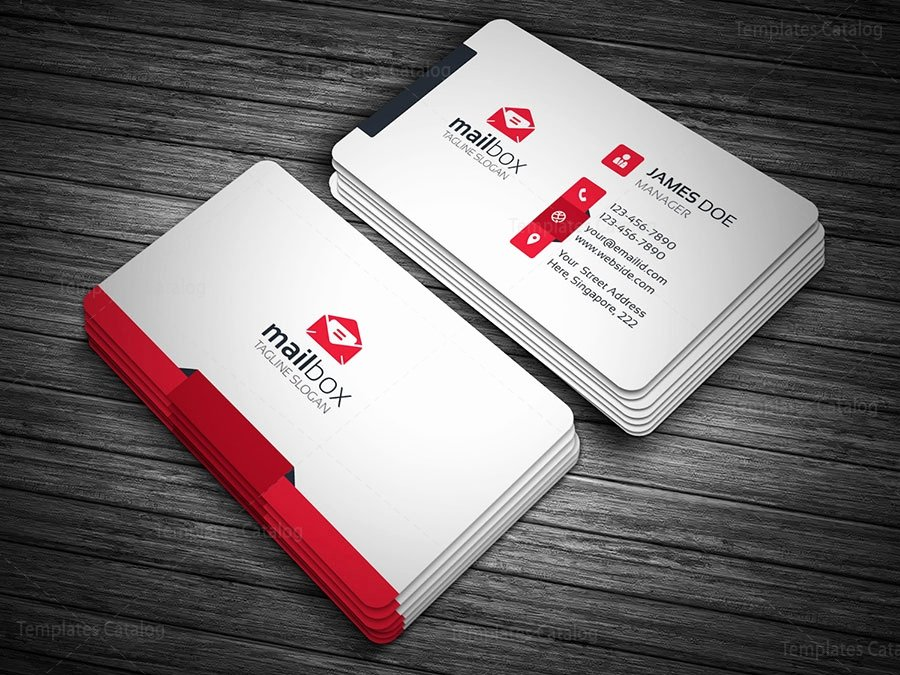 Clean Simple Business Card Template Template Catalog
