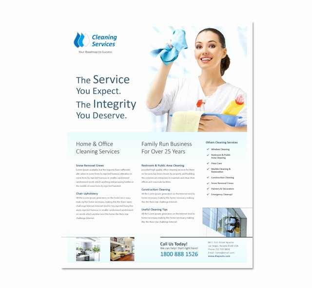 Cleaning & Janitorial Services Flyer Template