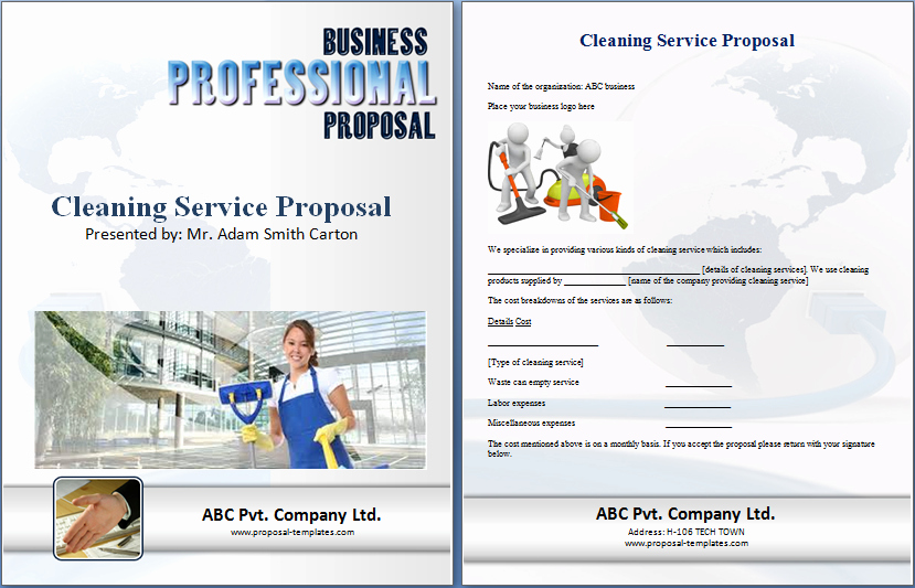 Cleaning Bid Proposal Template Free