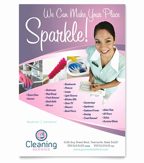 Cleaning Business Flyer Samples Templates Resume