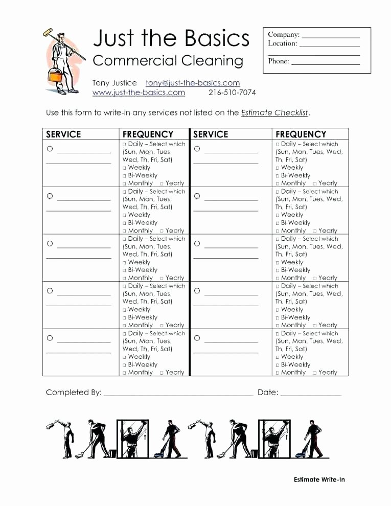 Cleaning Pany Estimate Template