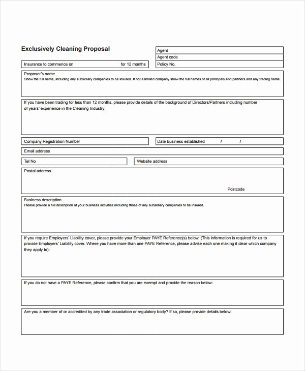 Cleaning Proposal Template 12 Free Word Pdf Document