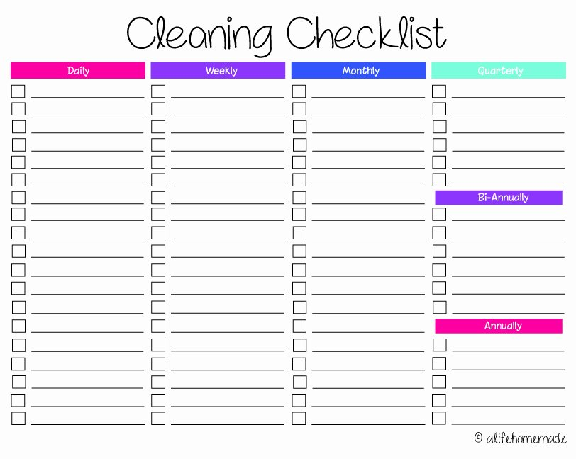 Cleaning Routines and Schedules