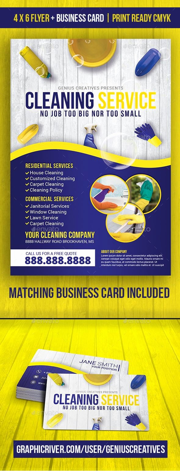 Cleaning Service Cleaning Business Flyer