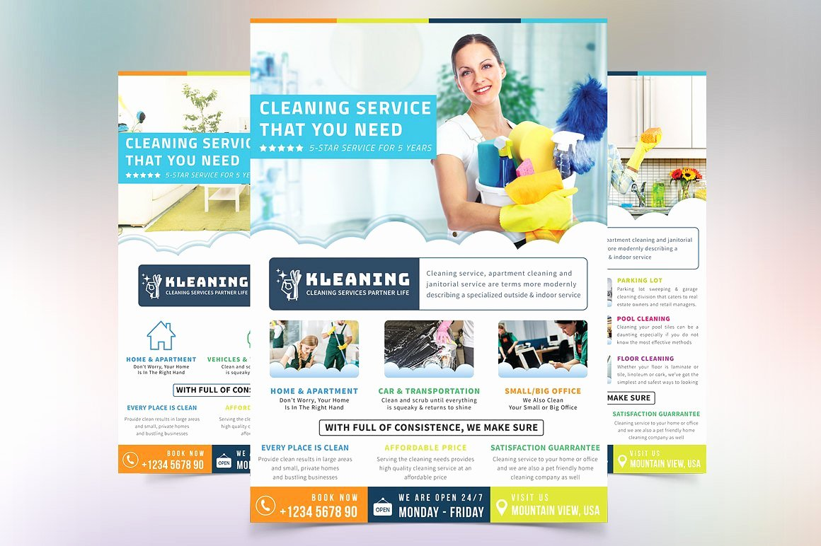 Cleaning Service Flyer Flyer Templates Creative Market