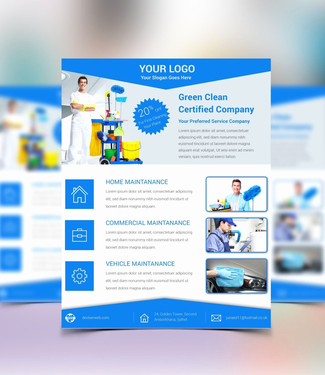 Cleaning Service Flyer – Psdboom