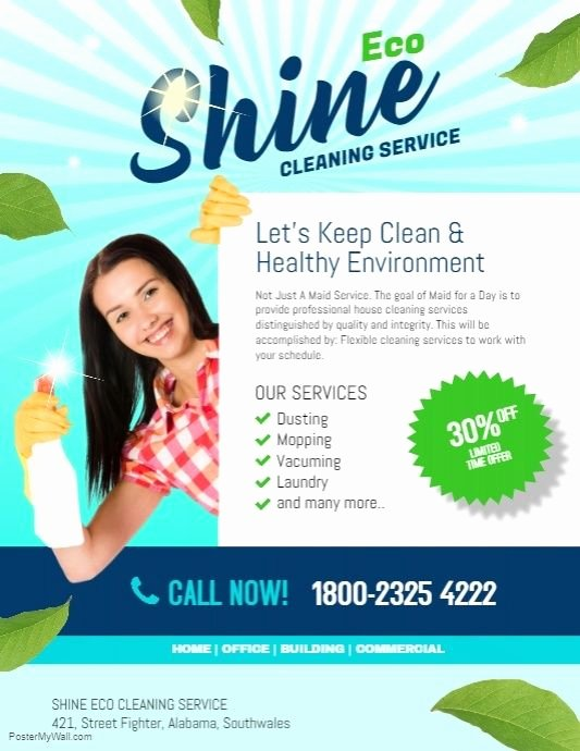Cleaning Service Flyer Template Dni America Flyer Gallery