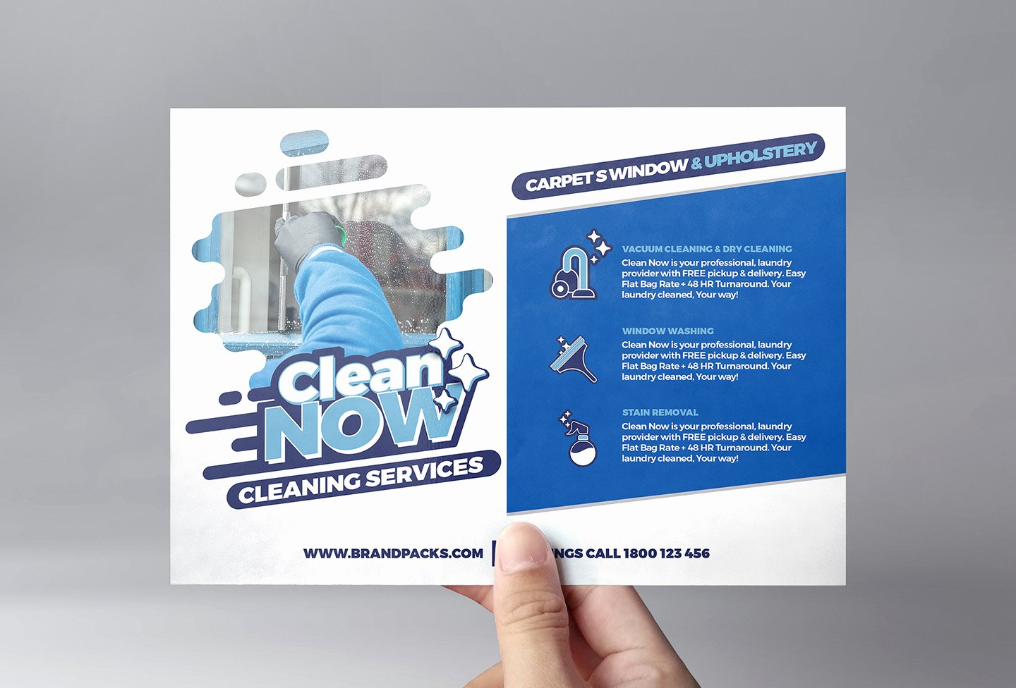Cleaning Service Flyer Template for Shop