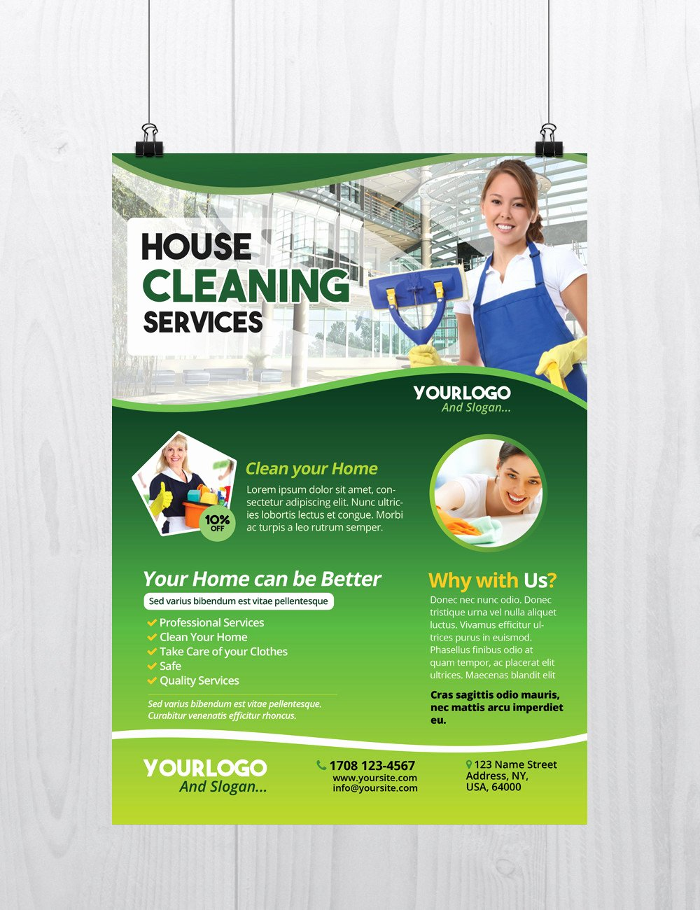 Cleaning Services Download Free Psd Flyer Template