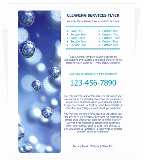 Cleaning Services Flyer by Cleaningflyer
