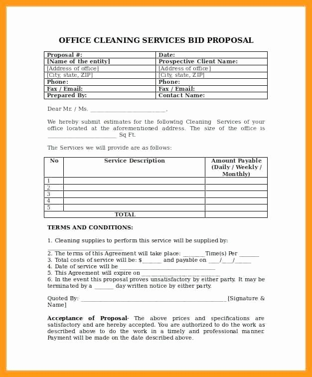 Cleaning Services Proposal Cover Letter Lovely Fice