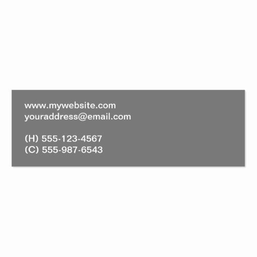 Clear Bold Type Gray Two tone Personal Networking Business