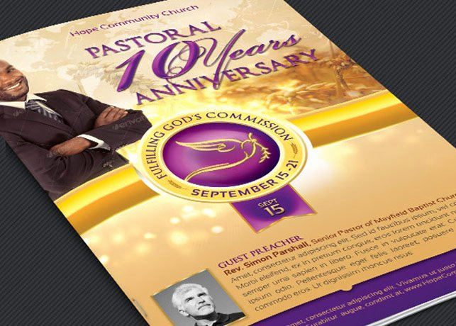Clergy Anniversary Service Program Template