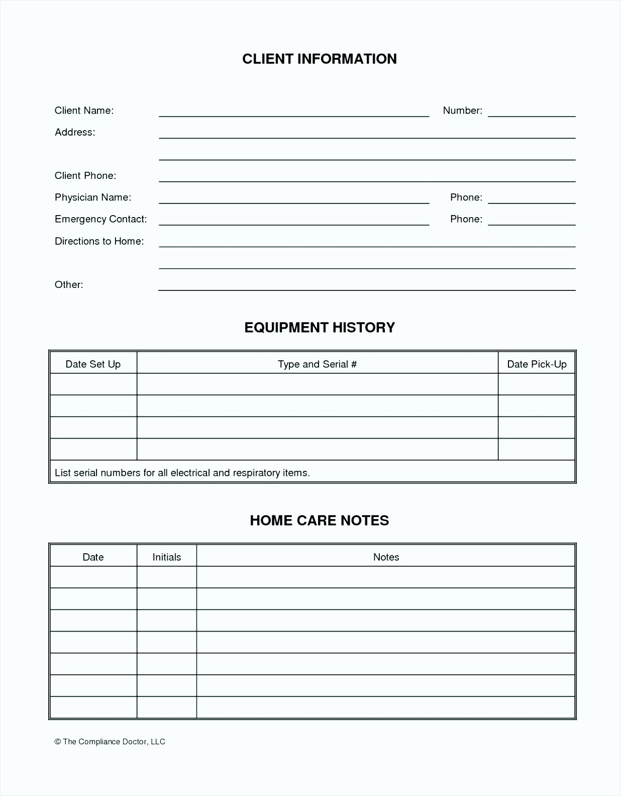 Client Information form Template Free Download Gallery