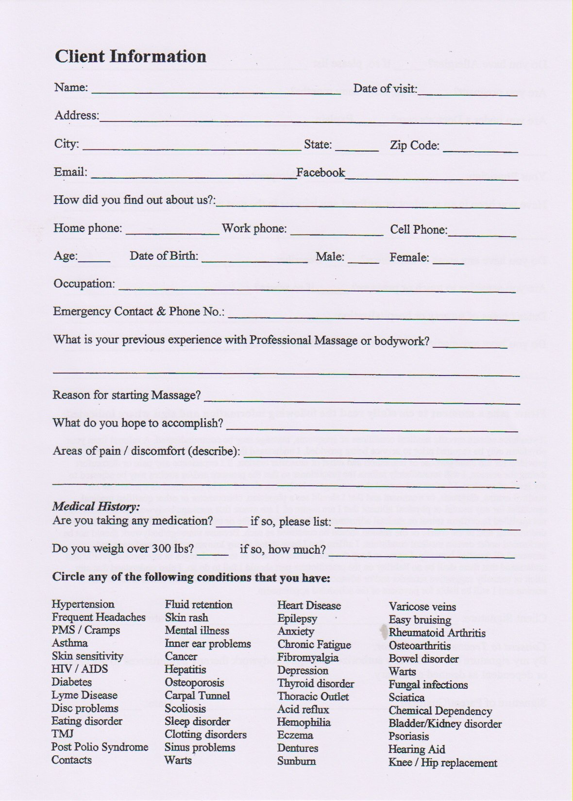 Client Intake form Olalaopx