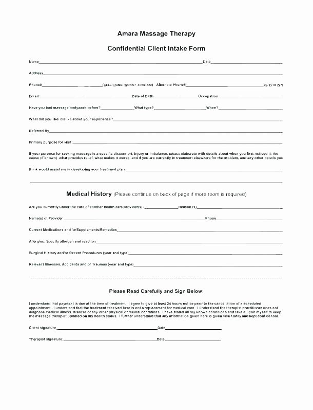 Client Intake form Template New Template Design Ideas