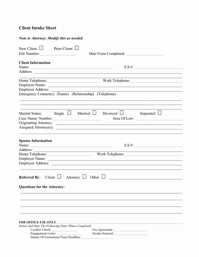 Client Profile Sample Free Documents for Pdf