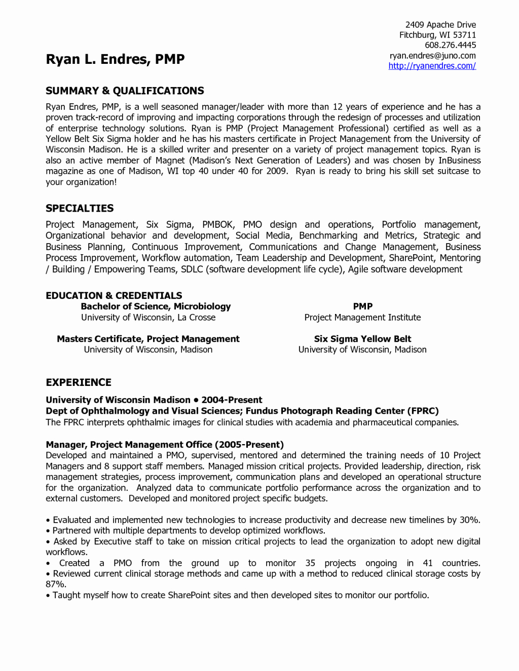 clinical laboratory scientist resume