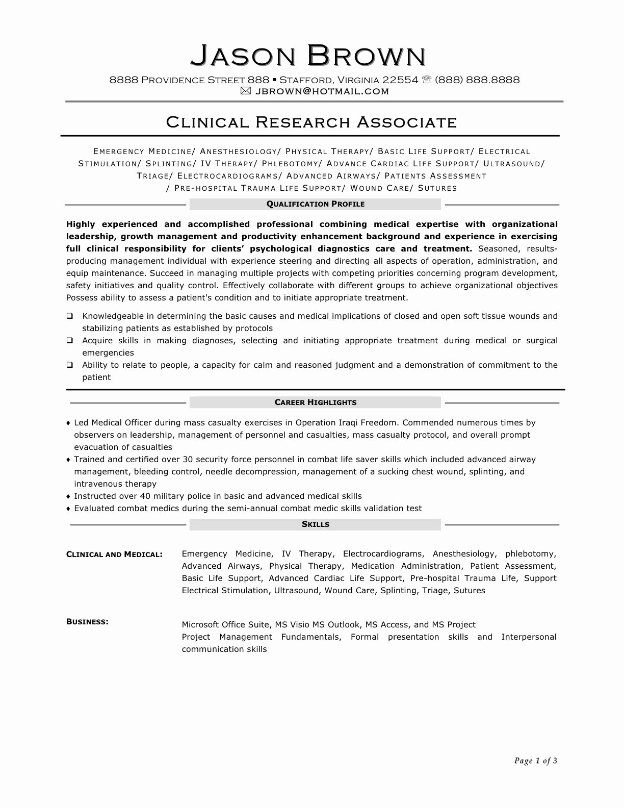 Clinical Research associate Resume Resume Ideas