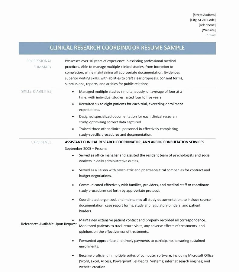 Clinical Research Coordinator Cover Letter Examples Sample