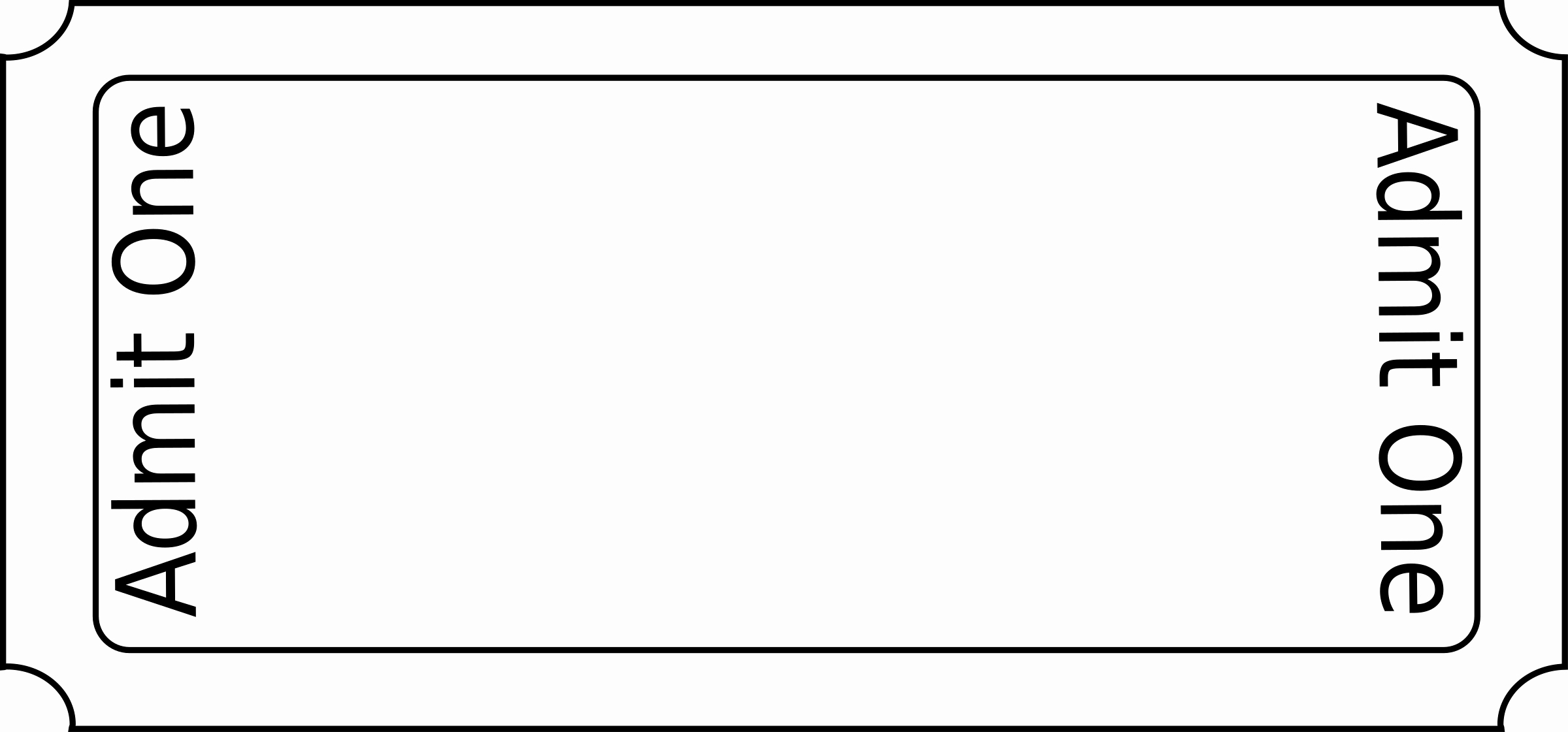 Clipart Generic Ticket